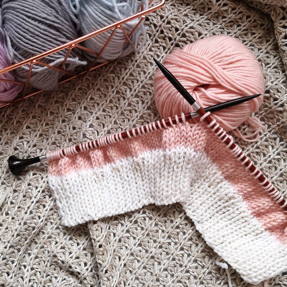 knitting stockinette stitches