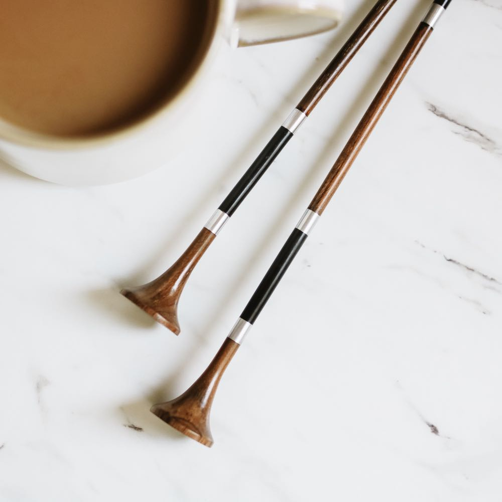 wooden knitting needles from furls