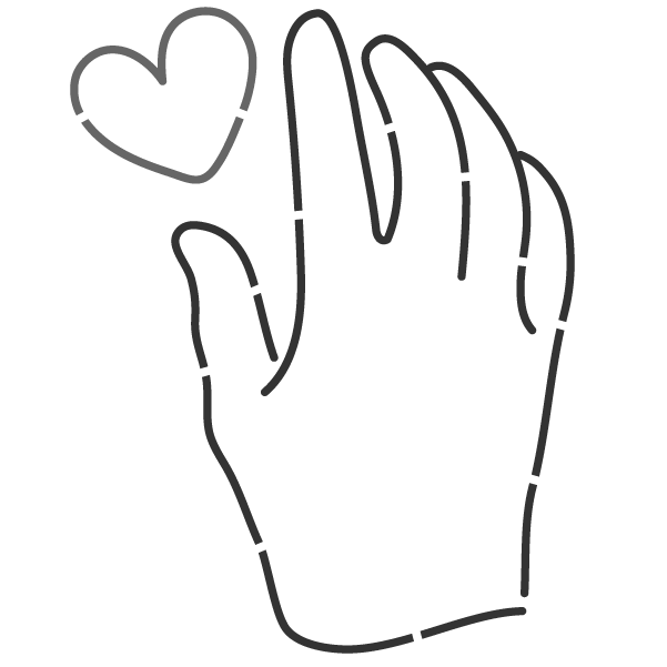 hand love illustrated icon
