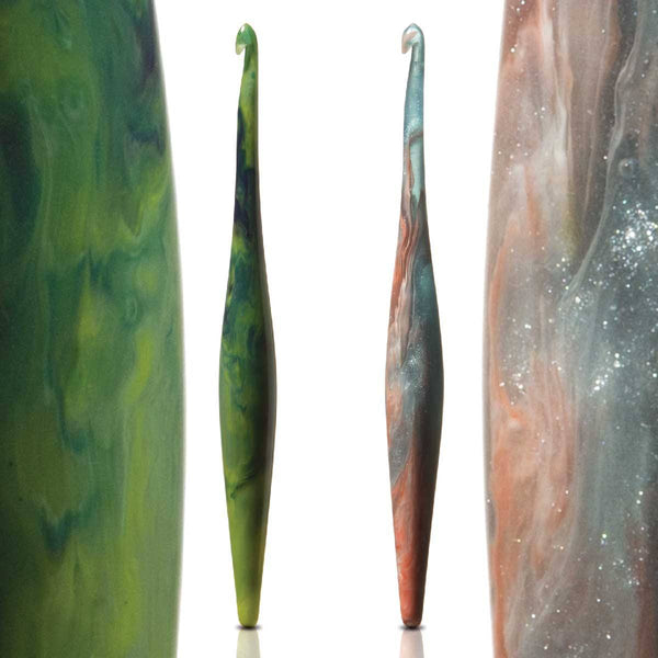 Streamline Swirl Galaxy - Ergonomic Crochet hooks (Virgo & Andromeda) Crochet Hook FurlsCrochet
