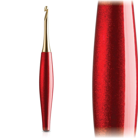 Odyssey Red + 14K Gold Ergonomic Crochet Hook