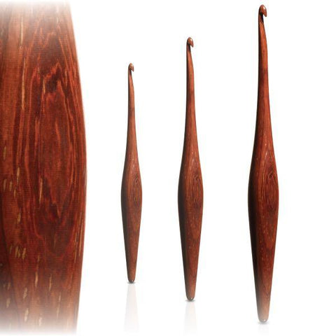 Furls Padauk Streamline - Ergonomic Wooden Crochet hooks