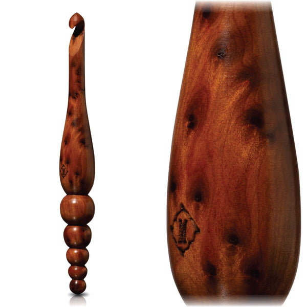 Limited Edition Thuya Burl Crochet Hook