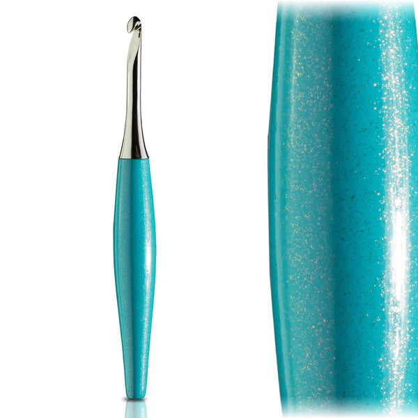 Odyssey Turquoise & Nickel Crochet Hook