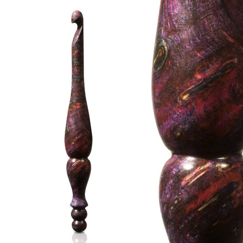 Limited Edition Burl Alpha Series Crochet Hooks FurlsCrochet Pink + Blue (G) - 4.00mm