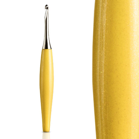 Odyssey Yellow & Nickel Crochet Hook Crochet Hook FurlsCrochet 2.25mm - ( B )