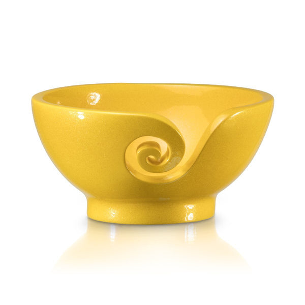 Odyssey Yellow Yarn Bowl FurlsCrochet