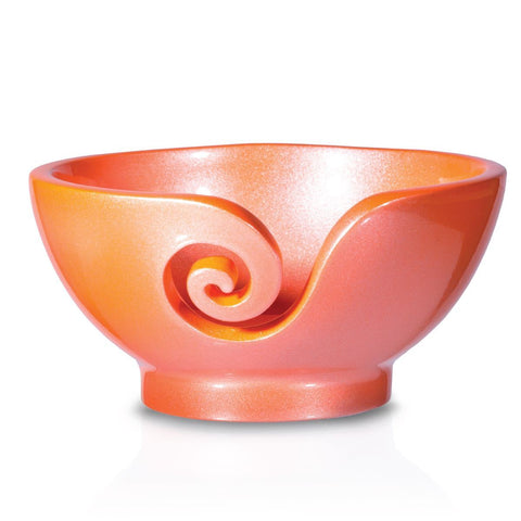 Sleek Metal Yarn Bowls Yarn Bowl FurlsCrochet Copper Finish