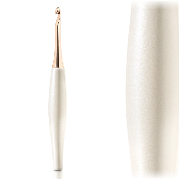 Odyssey White & Rose Gold Crochet Hook