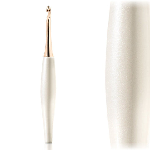 Odyssey White & Rose Gold Crochet Hook Crochet Hook FurlsCrochet