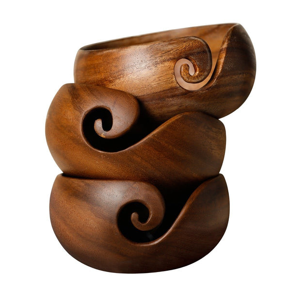 LIMITED EDITION Rosewood Yarn Bowl for Knitters and Crocheters