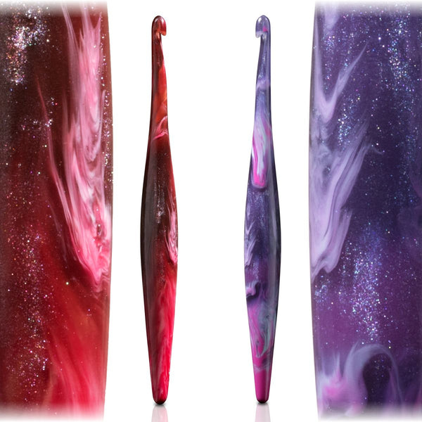 Streamline Swirl Galaxy - Ergonomic Crochet hooks (Aries & Taurus)