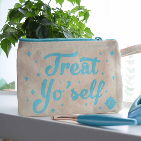 Special Edition Wristlet Clutch - Turquoise FurlsCrochet