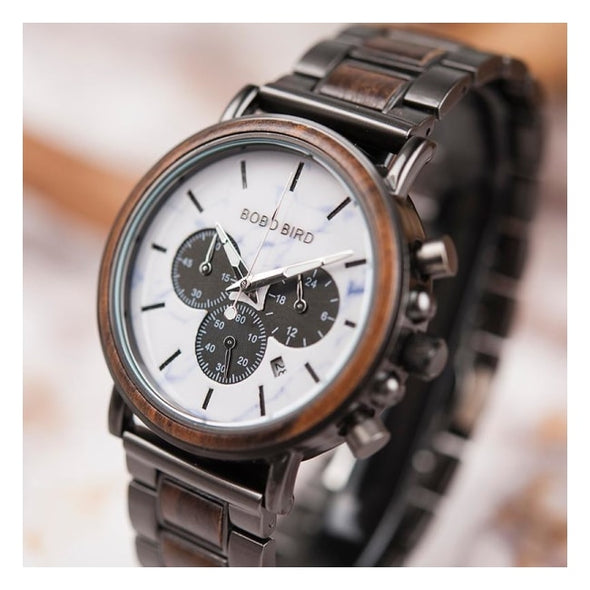 Montre en Bois Marbre Sport | French Hipster Officiel®