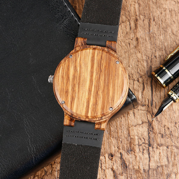 Montre en Bois Acajou | French Hipster Officiel®