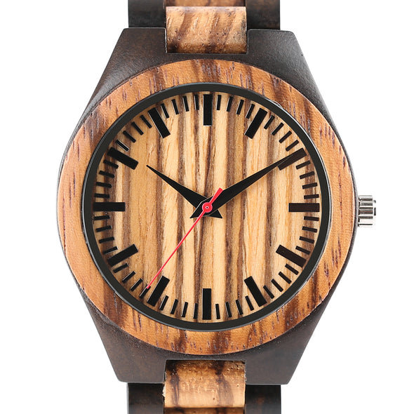 Montre en Bois Black and Wood | French Hipster Officiel®