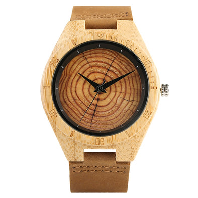 Montre en Bois Cerne Arbre | French Hipster Officiel®