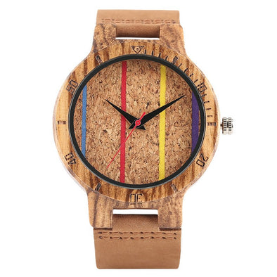 Montre en Bois Multicolore | French Hipster Officiel®