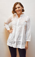 Load image into Gallery viewer, Motif Embroidered White Shirt