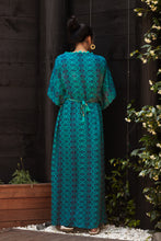 Load image into Gallery viewer, Submariner Blue Silk Kaftan