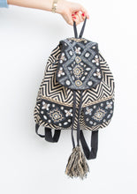 Load image into Gallery viewer, Black and Gold Embroidered Backpack
