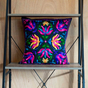 Black Lotus Cushion Cover Marigold Lane New Zealand