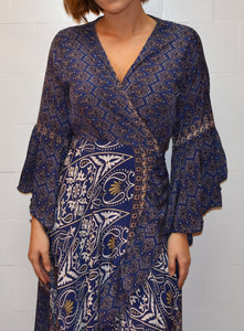 Blue Harbour Wrap around Silk Dress