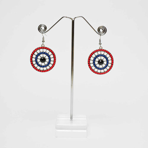 Bulls eye Red Earrings Marigold Lane New Zealand