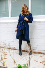 Load image into Gallery viewer, Damascus Cape - Navy Blue Clothing Marigold Lane