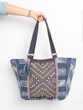 Load image into Gallery viewer, Blue Dot Embellished Handbag Marigold Lane New Zealand