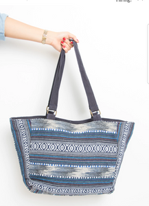 Blue Dot Embellished Handbag