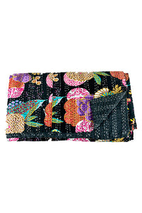 Black Tropicana Kantha Throw Marigold Lane