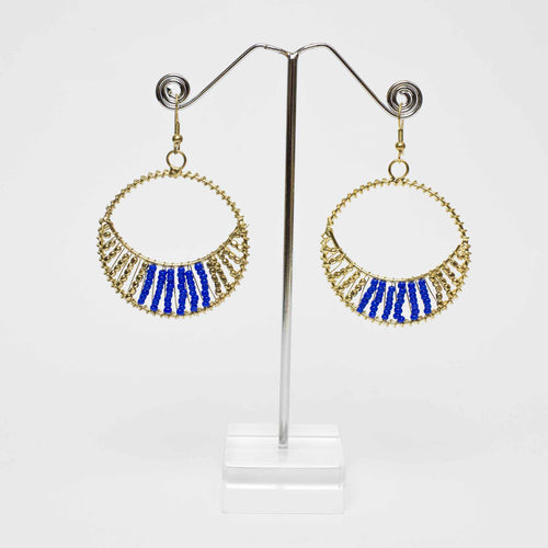 Level Down Beaded Earrings - Blue