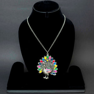Dancing Peacock Colour Necklace