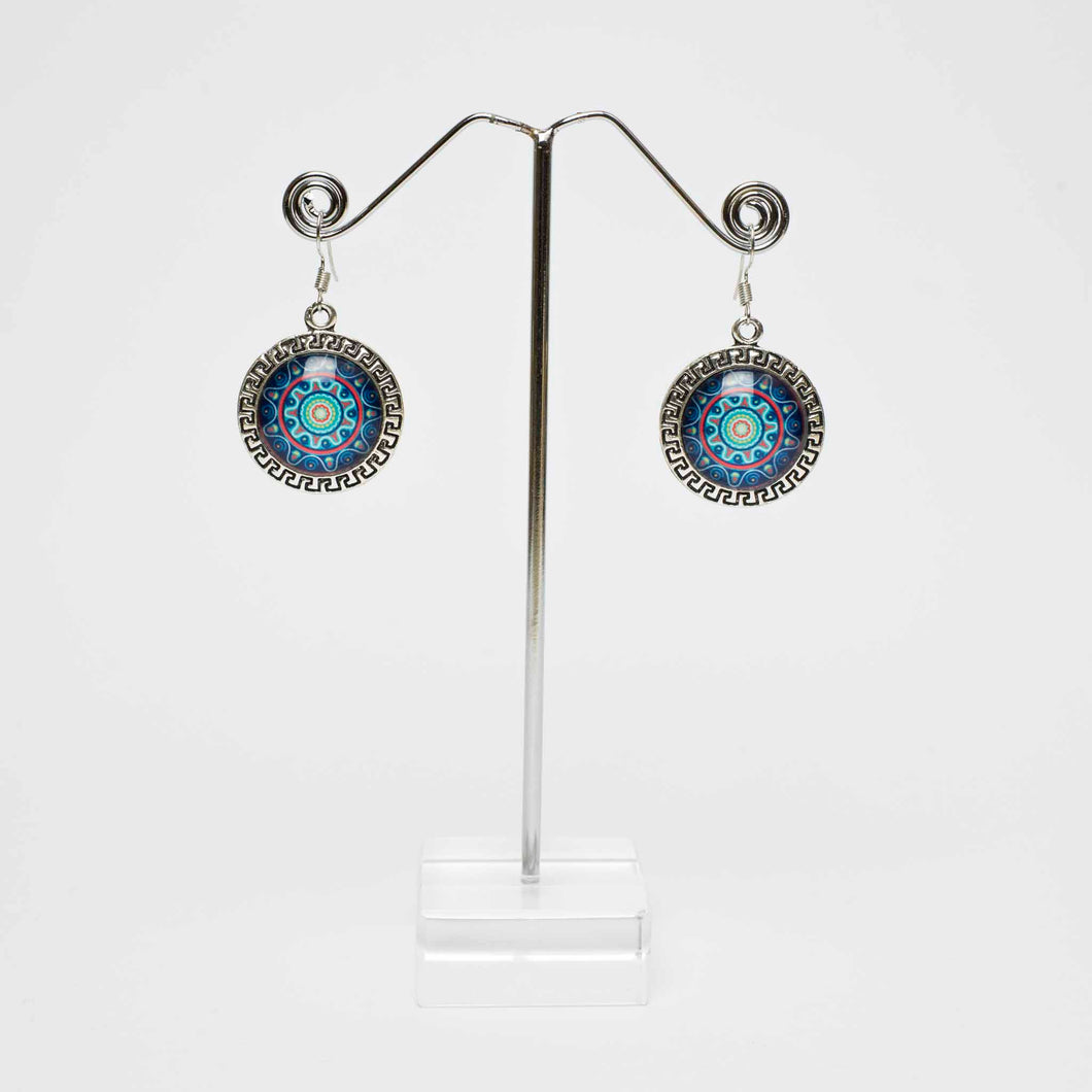 Mandala Blue Earrings Marigold Lane New Zealand