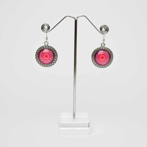 Mandala Red Earrings Marigold Lane New Zealand