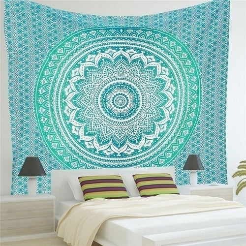 Blue Aztec Mandala Throw