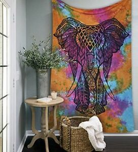 Tie Die Elephant Boho Throw Marigold Lane New Zealand