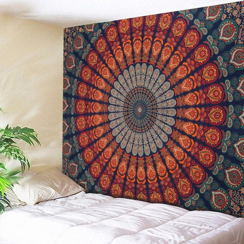Blue & Orange Circles Mandala Throw Marigold Lane New Zealand