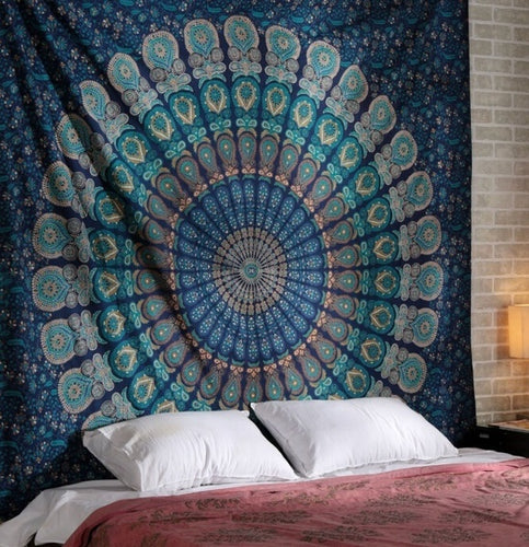 Cool Blue Mandala Throw Marigold Lane New Zealand