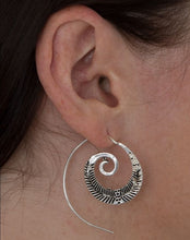 Load image into Gallery viewer, Silver Fern Spiral Earrings Marigold Lane New Zealand