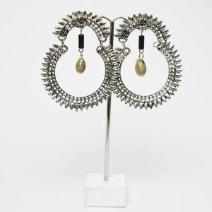 Spike Shell Drop Earrings
