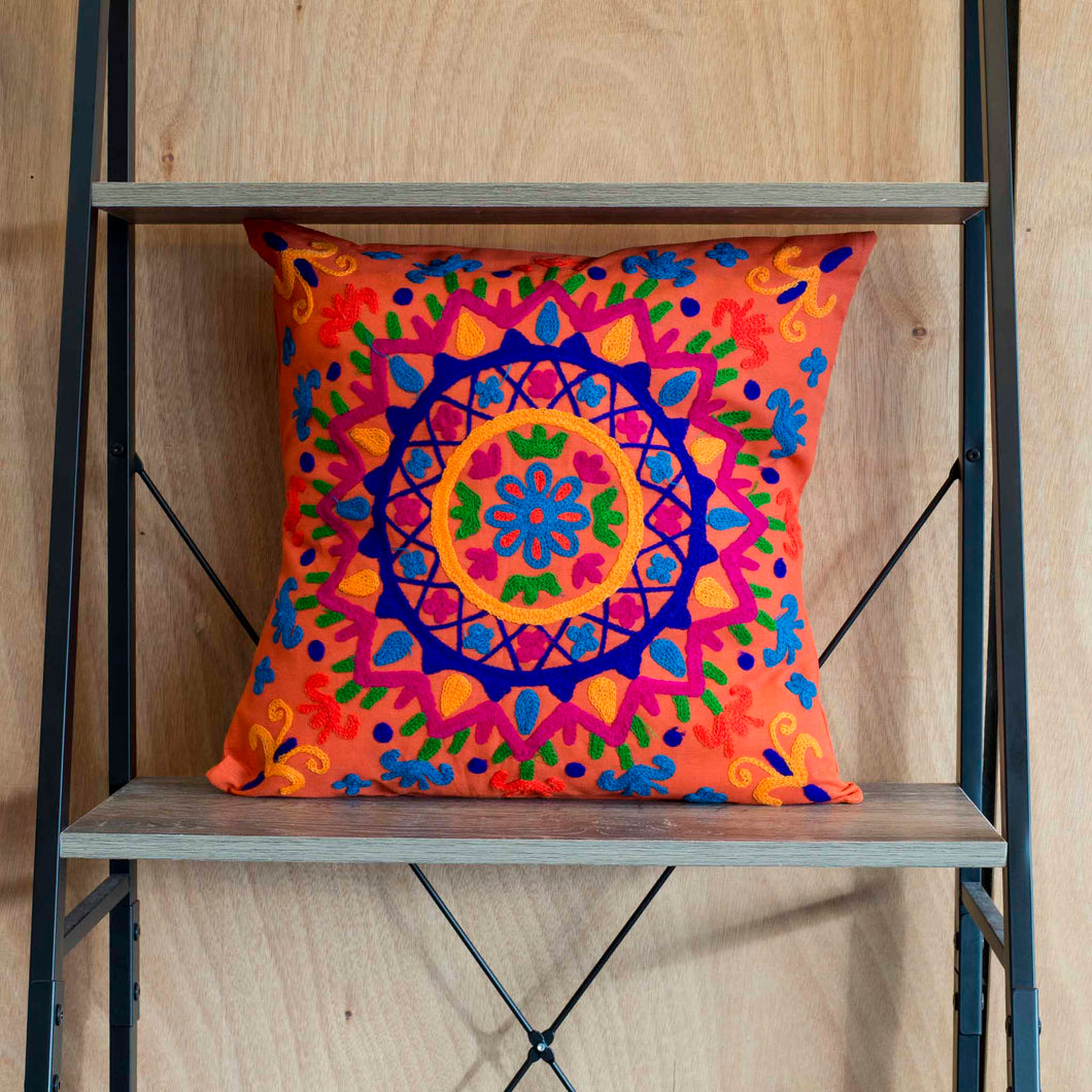 Orange Splash Cushion Cover