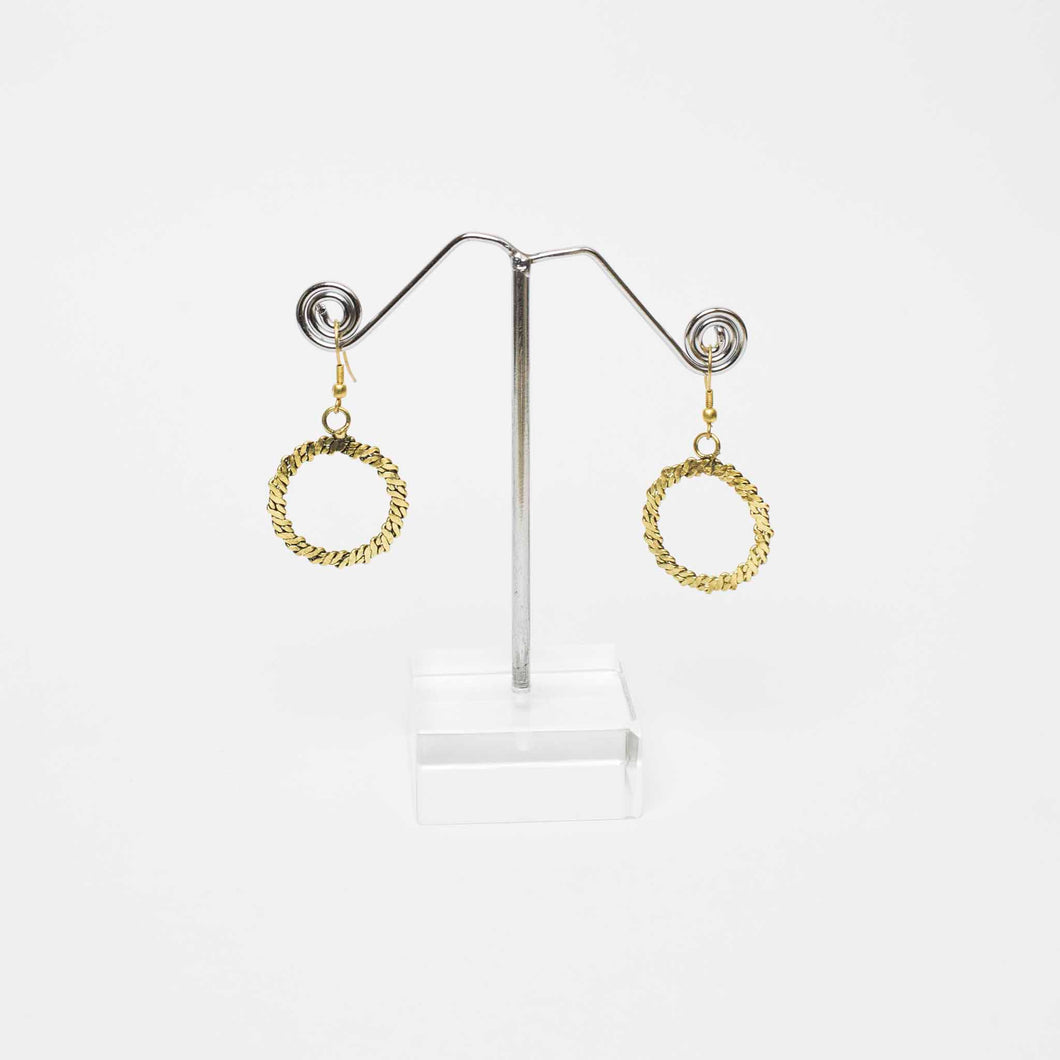 Swirl Me Gold Earrings Marigold Lane New Zealand