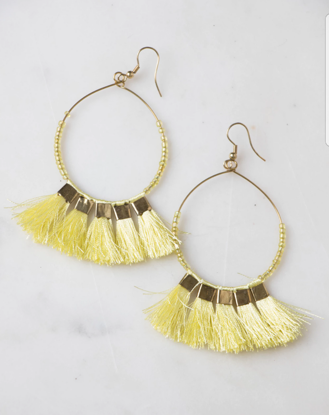 Tassle Me Yellow Earrings