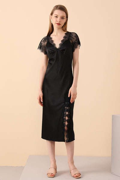 Black Silk Sleepwear from baskinsilk.com