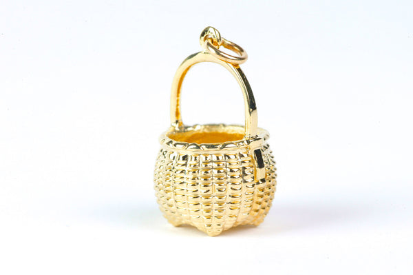 14k Yellow Gold Maine Cathead Basket