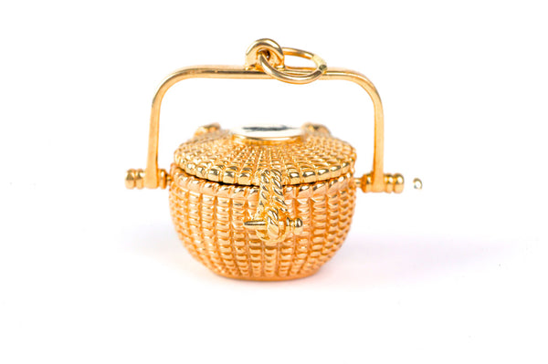 Gold Nantucket Lightship Basket