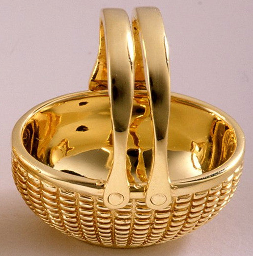 18k Yellow Gold Open Oval Basket 1
