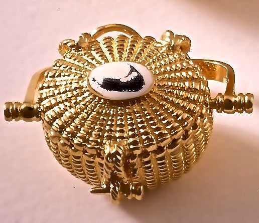 Original 14K Gold Nantucket Lightship Basket